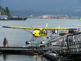 Waiting to board the seaplane, Vancouver - December 2011