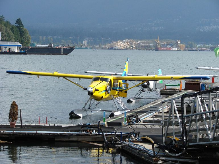 Waiting to board the seaplane, Vancouver