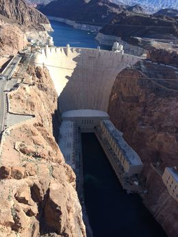 This is the view from the new bridge that leads from Nevada to Arizona , Vicki D - February 2015