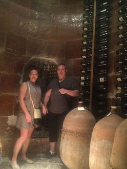 In the fermentation rooms built in the 13th century. , Heather D - November 2015