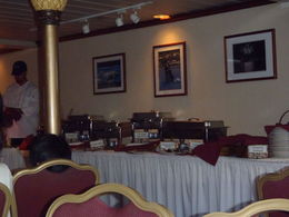 Dinner Buffet, variety of salads, hot roast meat, chicken etc , Andrea S - January 2013