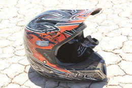 Photo of Las Vegas Hidden Valley and Primm Extreme ATV Tour Helmet on the dry lake bed