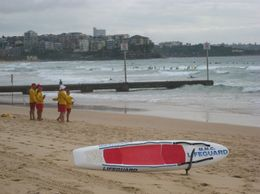 All beaches have lifeguards on duty, very recognizable with their yellow and red outfits - March 2010