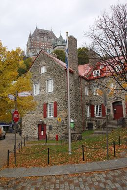 From Viator's bus stop - not a bad view of part of Quebec's old city with Fairmont's Chateau le Frontenac in the background. , Ray C - October 2014