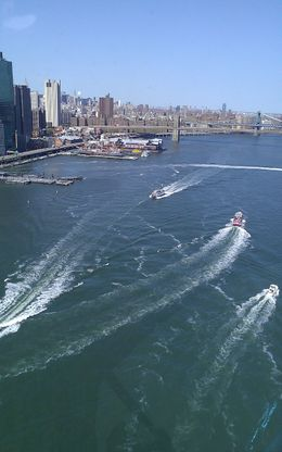 Photo of New York City Manhattan Sky Tour: New York Helicopter Flight NY boat traffic via helicopter