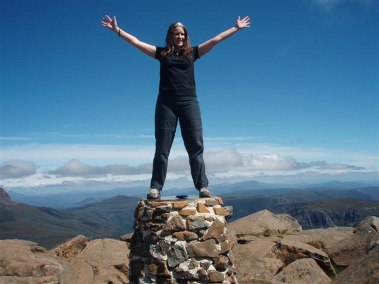 On top of the summit! -