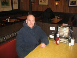 Me at the diner in New Jersey 'Holstens' where Tony Soprano sat in the very last episode of the show. , Lee B - February 2013