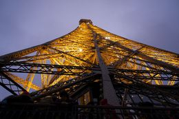 the Eiffel all lit up , Christina M - August 2014