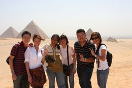 Photo of Cairo Private Tour: Giza Pyramids, Sphinx, Egyptian Museum, Khan el-Khalili Bazaar A Panoramic View of the Pyramids of Giza