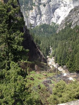 You can't see the waterfall because this was from the top but it was well worth it to hike to the top., Melinda - August 2014