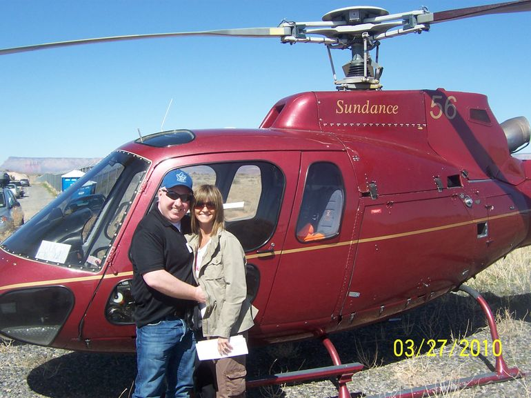 Arrival at the top of the West Rim - Las Vegas