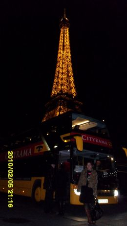 We went illumination tour with this bus. This photo was taken after the cruise., Tin Zar W - February 2010
