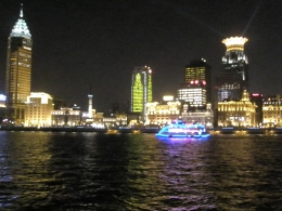 Photo of Shanghai Huangpu River Cruise and Bund City Lights Evening Tour of Shanghai Flower top buidling was Westin-- my hotel
