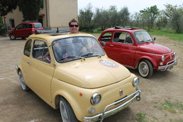 Photo of Florence Self-Drive Vintage Fiat 500 Tour from Florence: Tuscan Wine Experience Having fun with Giacomo