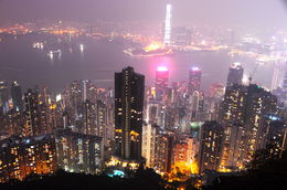 View of the island on top of Victoria Peak - January 2013