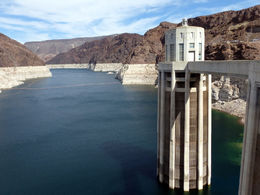 Hoover Dam intake valve on Lake Mead. , Rod P - October 2015