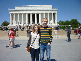 We were able to get off our segways to see the Lincoln Memorial!, Irene - June 2013