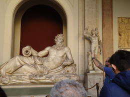 One of the many statues that we saw in the Vatican Museums , Linda B - December 2014