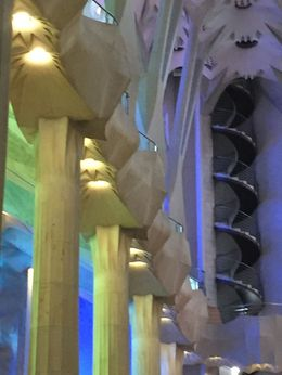 The pillars and supports are designed to look natural and make the observer feel like they are in a forest , CHRIS C - May 2016