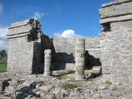 Picture of one of the buildings in Tulum. , Vinay K - November 2015
