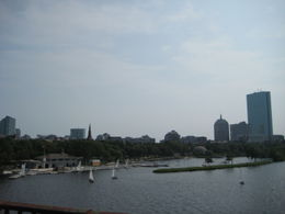 Photo of Boston Boston Hop-on Hop-off Trolley Tour Waterview from the bridge