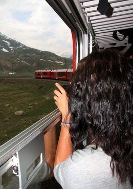 Admiring the alps - July 2010