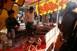 There were so many food vendors along the street that we wished we had time to stop and taste them., Nathalie J - January 2009