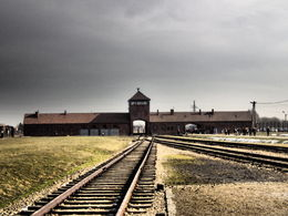 The profile of the train lines at the Birkenau selection area , Anna J - February 2015