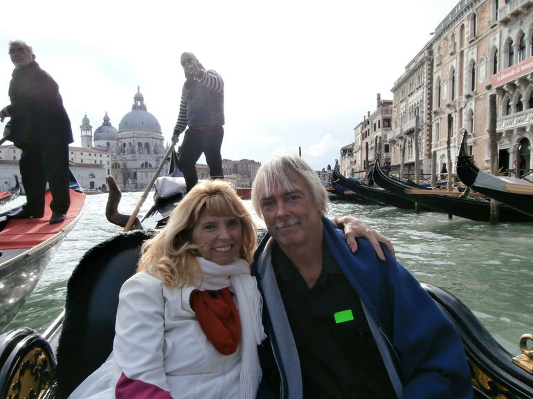 Our 25th anniversary aboard a gondola!