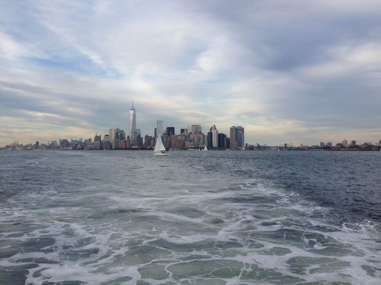 Leaving Manhattan in our wake