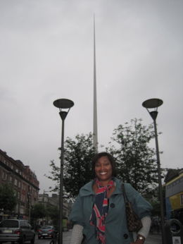 Me compared to this this very tall spire in the middle of the city. Can't miss it. , Nikki H - July 2012