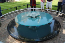 Memorial of Ann Boleyn, Queen of England and several others beheaded in plaza in Tower of London , CARAVAN13 - July 2013