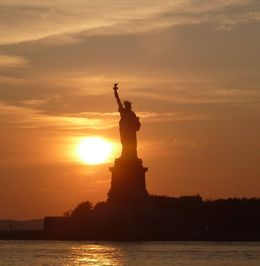 Statue of Liberty at sunset. , tracey s - September 2013