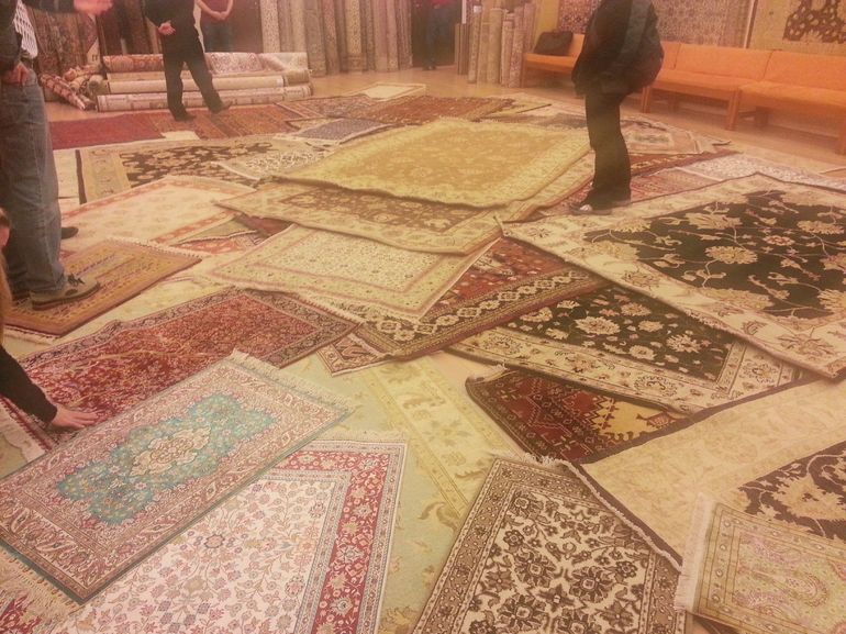We had lunch and a tour of the local carpet coop, where the carpets are made (they have their own silkworms). If you want to buy a carpet, this is the best place with the best prices and you know they are handmade.