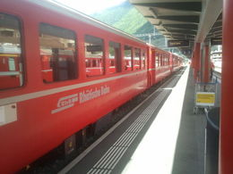 Photo of Milan Swiss Alps Bernina Express Rail Tour from Milan Viagem de Trem