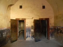 View of two cells where the prisoners were held. , Ramiro Julio Z - September 2012