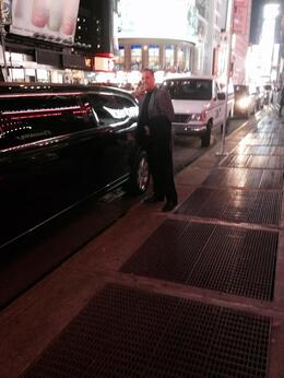 Our limo in Manhattan taking us to the world Yacht dinner on pier 81 41 St. , Nicolas S - December 2014