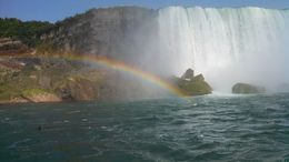 Beautiful rainbows in the mist were a big highlight of this boat trip! , Mary H - July 2014