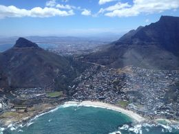 Flying around Lions Head and Camps Bay beach, Nick - January 2013