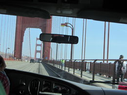 Photo of San Francisco San Francisco Super Saver: Muir Woods and Wine Country Tour Crossing the bridge. An amazing engineering feat.