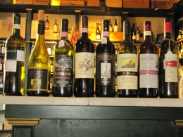 Photo of Florence Florence Cheese and Wine Tasting Display of the wines
