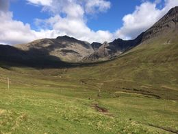 Fairy pools trail behind the Black Cuillin mountains in the Isle of Skye, lgs888 - June 2014