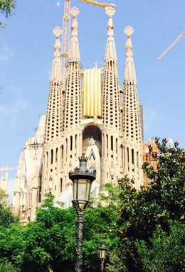 Photo of Barcelona Skip the Line: Barcelona Sagrada Familia Tour From the park in front of the tour office.
