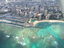 The water looks spectacular from the air , Sharon R - November 2012