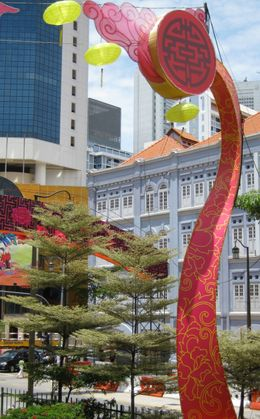 Wonderful colourful street decorations make Singapore a visual delight - September 2009