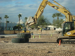 Photo of Las Vegas Dig This: Heavy Equipment Playground Lifting massive tires