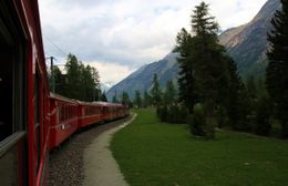 Photo of Milan Swiss Alps Bernina Express Rail Tour from Milan Lush scenery