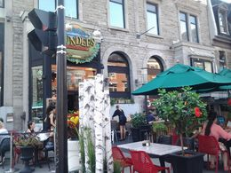 One of the many cafes in Montreal near Museum Row Sherbrook st , rob - September 2015