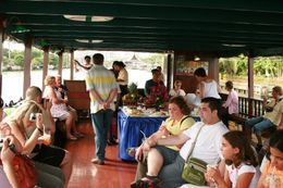 Aboard the rice barge. - September 2008