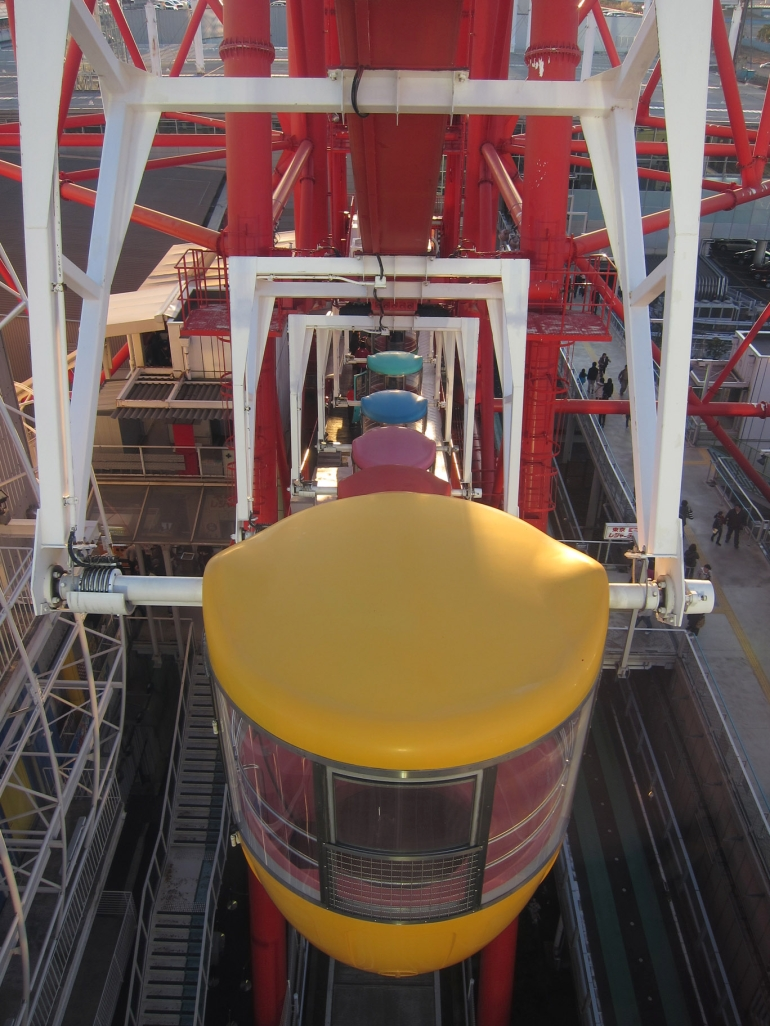 View from the giant ferris wheel - Tokyo